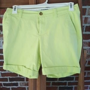 Like new, lime green Old Navy shorts